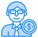business, businessman, finance, invester, investment, money icon