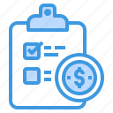 business, check, finance, investment, money, plan icon
