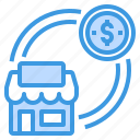 business, finance, house, investment, money, refinance icon