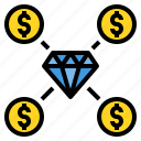 business, daimond, finance, investment, money icon