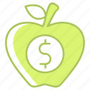 appel, business, finance, food, fruit, investment, resources icon