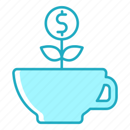business, cafe, coffee, finance, food, investment, resources icon