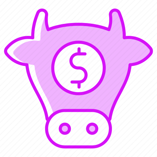 business, cow, finance, food, investment, meat icon