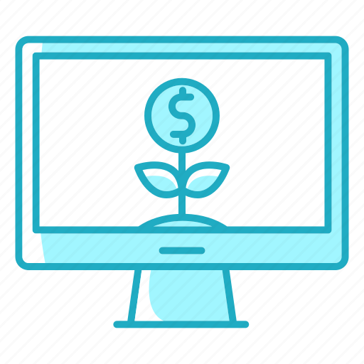 business, finance, invest, investment, monitor, presentation, resources icon