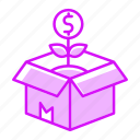 box, business, delivery, finance, investment, product, release icon