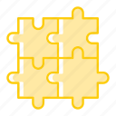 business, finance, investment, launch, plan, puzzles, strategy icon