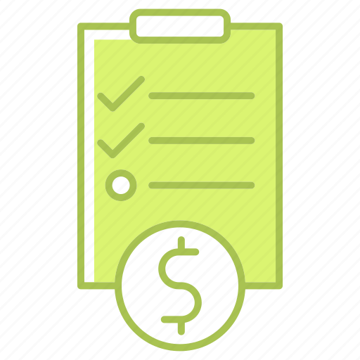 business, document, investment, money, note, survey icon