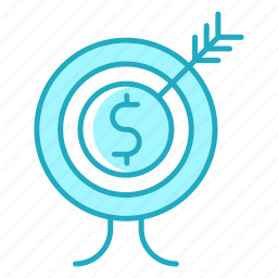 business, finance, goal, investment, seo, target icon