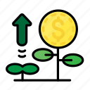 coin, currency, dollar, investment, money icon