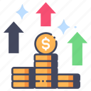 business, finance, growth, income, increase, money, profit icon