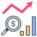 analysis, business, chart, financial, investment, marketing, research icon