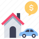 business, car, house, rent, rental, service, vehicle icon
