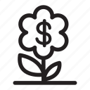 investment, financial, flower, perk, profit