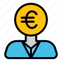 business, finance, money, man, currency, euro
