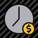 clock, money, dollar, time, management, schedule