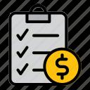 document, purchase, money, finance, report