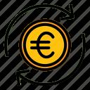 exchange, euro, money, refund, finance, payment