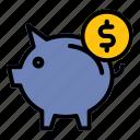 pig, piggy, money, saving, finance, dollar