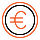 euro, coin, money, currency, investment, finance