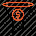 filter, economy, finance, funnel, money