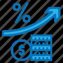 income, interest, passive, profit, rate icon