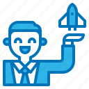 business, businessman, investment, luanch, startup icon