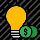 idea, investment, money, profit, solution