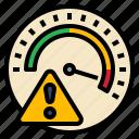 alert, guage, measure, risk, warning icon