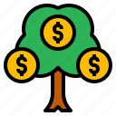 growth, investment, money, profit, tree