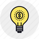finance, financial, fintech, idea, investment, money, startup icon