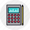 calculation, data, financial, investment, market, return, roi icon