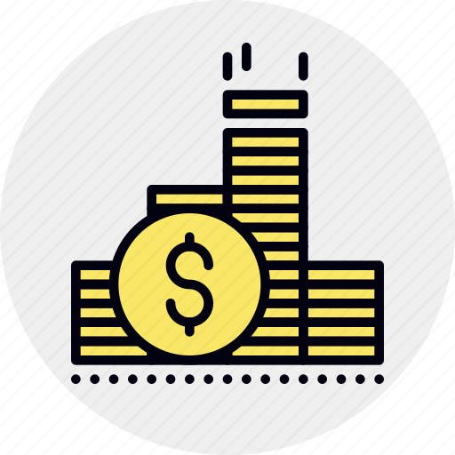 capital, coins, finance, gold, income, savings, wealth icon
