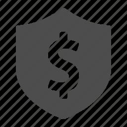 money, security, shield icon