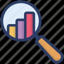 analytics, bar graph, business monitoring, financial report, statistics icon