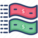 banknote, currency, dollar, finance, paper money icon