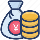 dollar sack, finance, money bag, money sack, wealth icon