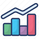 bar chart, business analytics, business growth, graph presentation, growth chart icon