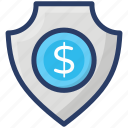 financial security, money protection, money security, safe money, secure business, secure investment icon