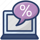 ecommerce, online discount, online marketing, sale promotion, shopping discount icon