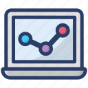 business chart, growing graph, online analysis, statistics, trend analysis, trend graph icon
