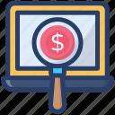 analytics, business monitoring, financial monitoring, online monitoring, statistics icon