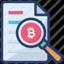 analytics, bitcoin analysis, business monitoring, financial monitoring, reporting bitcoin icon