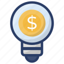 business idea, business innovation, creativity, financial innovation, invention icon