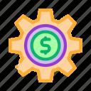 bag, business, cash, coin, dollar, finance, gear