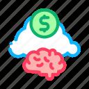 brain, business, cloud, concept, finance, money