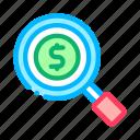 business, de, magnifier, money, search, web