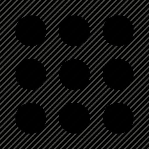 dialup, keypad, list, menu, more, numbers, numpad icon
