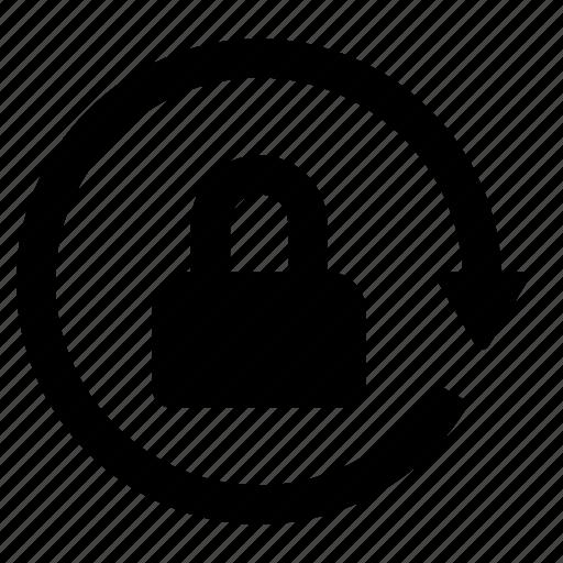 lock, phone, secure icon