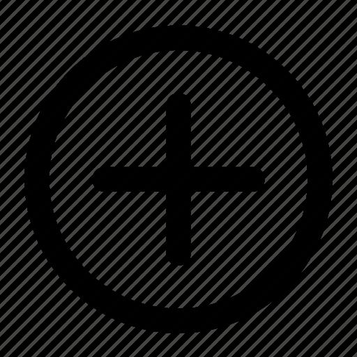 add, insert, new, plus, sign icon