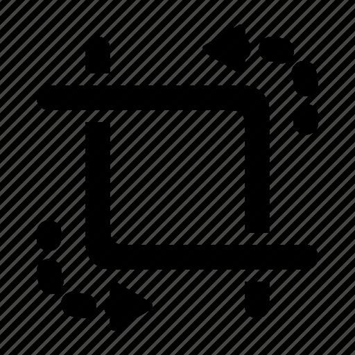 artboard, crop, rotate icon